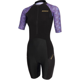 Zone3 Lava Short Sleeve Trisuit Women black/gold